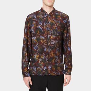 Lemaire Men's Spread Collar Shirt - Multicolour