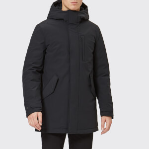 Woolrich Men's Stretch Military Parka Jacket - Black
