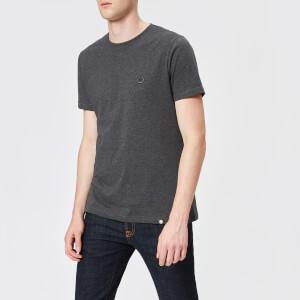 Pretty Green Men's Mitchell Short Sleeve Crew T-Shirt - Dark Grey Marl