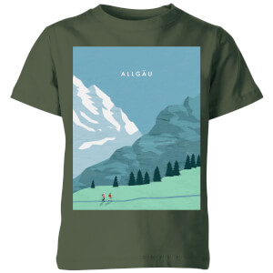 Algau Kids' T-Shirt - Forest Green
