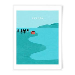 PlanetA444 Sweden Art Print