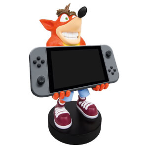 Figurine de support Cable Guy XL à collectionner – Crash Bandicoot – env. 30 cm