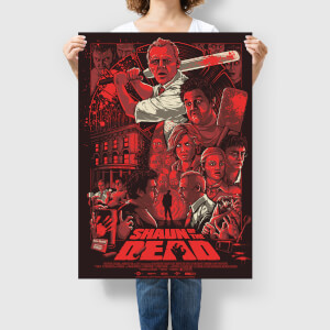 "Shaun of the Dead ""Who Died and Made You King of the Zombies"" 24 x 36 Inch Screenprint by Nos4a2 Design - Zavvi Exclusive (Limited to 175 pieces worldwide)"