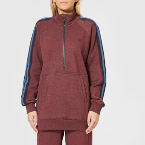 LNDR Women's Athletics Jumper - Burgundy Marl