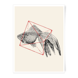 Florent Bodart Fish In Geometry Art Print