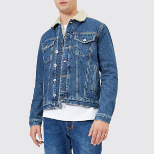 Diesel Men's D-Gioc-Fur Denim Jacket - Blue