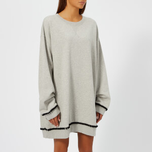 MM6 Maison Margiela Women's Crew Neck Sweatshirt - Grey Melange