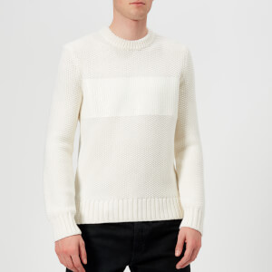 Helmut Lang Men's Crew Neck Knitted Jumper - White