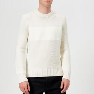 Helmut Lang Men's Crew Neck Knitted Jumper - White