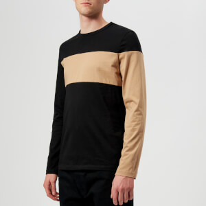 Helmut Lang Men's Band Logo Long Sleeve T-Shirt - Black/Camel
