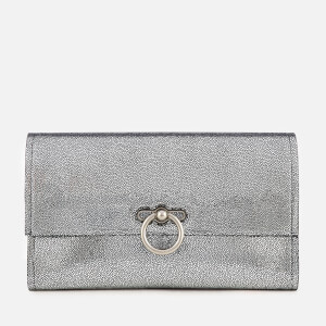 Rebecca Minkoff Women's Metallic Jean Clutch Bag - Silver