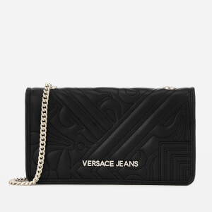 Versace Jeans Women's Small Padded Cross Body Bag - Black