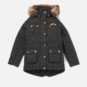 Barbour Girls' International Enduro Quilt Jacket - Black