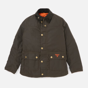Barbour Boys' Stybarrow Wax Jacket - Olive