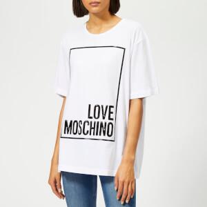 Love Moschino Women's Logo Box T-Shirt - Optical White