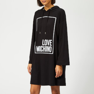 Love Moschino Women's Logo Box Sweater Dress - Black