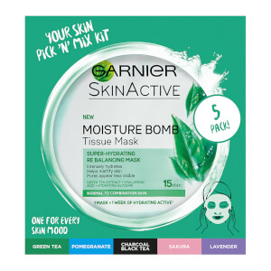 Garnier Moisture Bomb Hydrating Sheet Masks Selection Box x 5