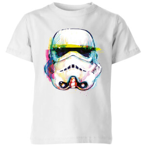 Star Wars Stormtrooper Paintbrush Kinder T-Shirt - Weiß