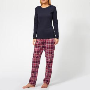 Tommy Hilfiger Women's Check Pyjama Set - Pink/Blue