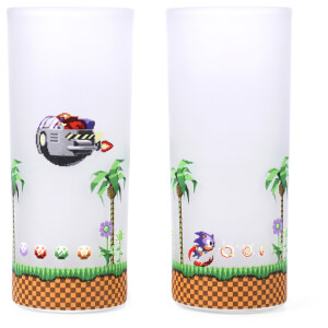 Sonic The Hedgehog Glasses - Set of 2