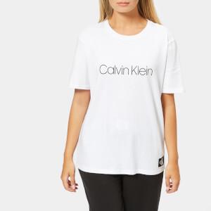Calvin Klein Women's Crew Neck Logo T-Shirt - White