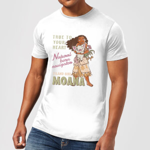 Moana Natural Born Navigator Men's T-Shirt - White