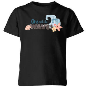 Moana One with The Waves Kids' T-Shirt - Black