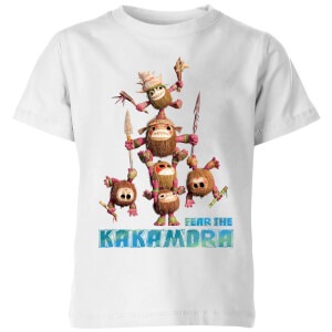 Moana Fear The Kakamora Kinder T-shirt - Wit