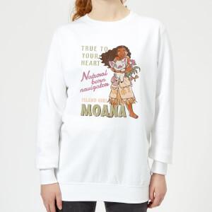 Moana Natural Born Navigator Women's Sweatshirt - White