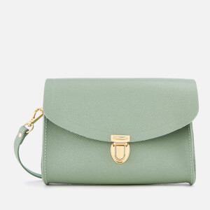 The Cambridge Satchel Company Women's Push Lock Cross Body Bag - Oasis Green Saffiano