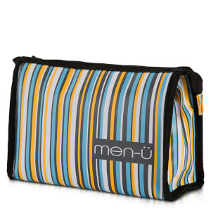 men-ü Stripes Toiletry Bag – Grey/Blue/Yellow