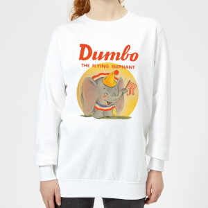 Dumbo Flying Elephant Women's Sweatshirt - White