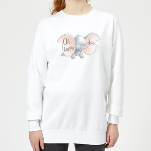 Dumbo Happy Day Women's Sweatshirt - White