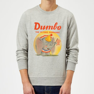 Dumbo Flying Elephant Pullover - Grau