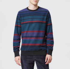 PS Paul Smith Men's Striped Crew Knitted Jumper - Multi