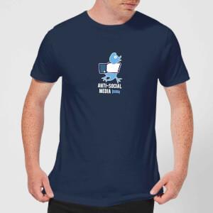 Plain Lazy Anti-Social Media Men's T-Shirt - Navy