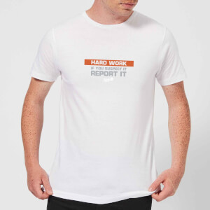 Plain Lazy Hard Work Men's T-Shirt - White