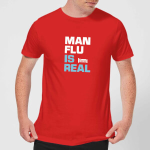 Plain Lazy Man Flu Is Real Men's T-Shirt - Red