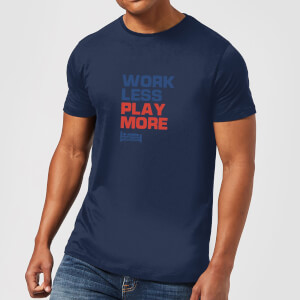 Plain Lazy Work Less Play More Men's T-Shirt - Navy