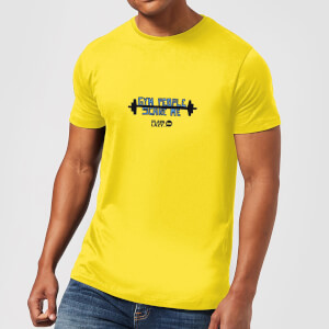 Plain Lazy Gym People Scare Me Men's T-Shirt - Yellow