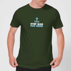 Plain Lazy Stop War Hug More Men's T-Shirt - Forest Green