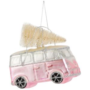 Sass & Belle Pink Campervan Bauble