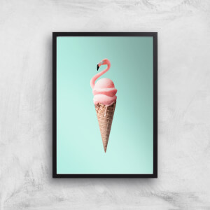 Jonas Loose Flamingo Ice Cream Art Print