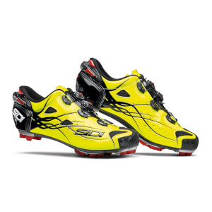Sidi Tiger Carbon MTB Shoes - Black/Yellow Fluo