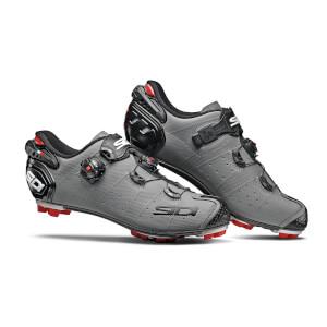 Sidi Drako 2 SRS Matt MTB Shoes - Matt Grey/Black
