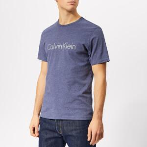 Calvin Klein Men's Short Sleeve Crew Neck Logo T-Shirt - Placid Heather