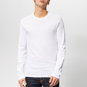 Calvin Klein Men's Long Sleeve Crew Neck T-Shirt - White
