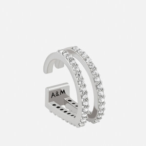Astrid & Miyu Women's Wishbone Earcuff - Silver