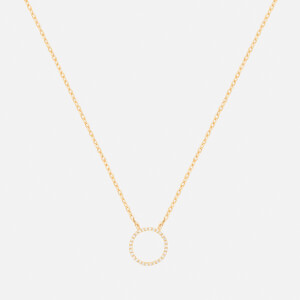 Astrid & Miyu Women's Tuxedo Circle Necklace - Gold