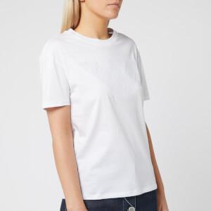 Emporio Armani Women's Embroidered Logo T-Shirt - White